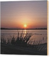 Sunset On The Atlantic  Wood Print