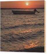 Sunset On The Bay Lavallette New Jersey  Wood Print