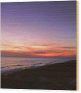 Sunset On The Beach At Cape San Blas, Florida Wood Print