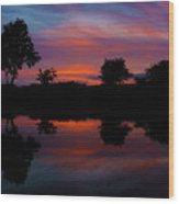 Sunset On The Bladnoch Wood Print