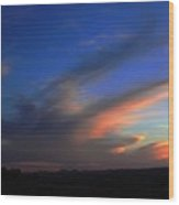 Sunset On The Brim Wood Print
