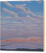 Sunset On The Dead Sea In Israel Wood Print