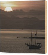 Sunset On The Edge Of The World Wood Print