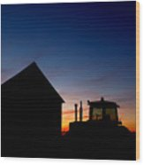 Sunset On The Farm Wood Print by Cale Best