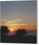 Sunset On The Gulf Of Mexico Wood Print