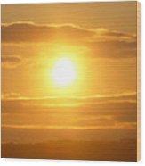 Sunset On The Horizon  3 Wood Print