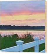Sunset On The Indian River Wood Print