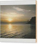 Sunset On The James Wood Print