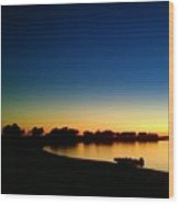 Sunset On The Lake... Wood Print