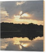 Sunset On The Lakefront Wood Print