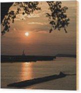 Sunset On The Mississippi Wood Print