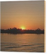 Sunset On The Nile Wood Print