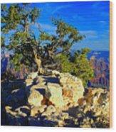 Sunset On The North Rim - Grand Canyon Wood Print