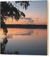 Sunset On The Ogeechee Wood Print