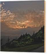 Sunset On The Parkway Wood Print