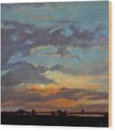 Sunset On The Prarie Wood Print