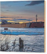 Sunset On The Presque Isle 7824 Wood Print