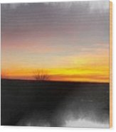 Sunset On The Ranch 3 Wood Print