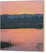 Sunset On The Refuge Wood Print