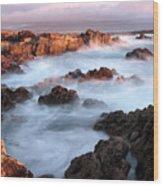 Sunset On The Rugged Coastline Of Kerry Ireland Wood Print