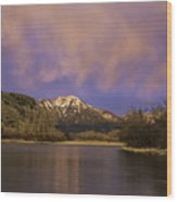 Sunset On The Snake River Wood Print