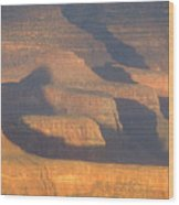 Sunset On The South Rim Of The Canyon Wood Print