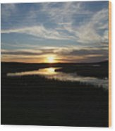 Sunset On The Totagatic Wood Print