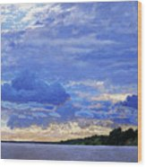 Sunset On The Volga. Gorodets Wood Print