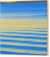 Sunset On Waves Wood Print