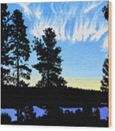 Sunset On Wickiup Wood Print