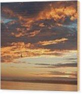 Sunset Oregon Wood Print