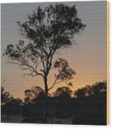 Sunset - Out In The Country Wood Print