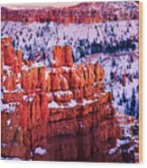Sunset Over A Hoodoo Nation I Wood Print