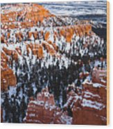 Sunset Over A Hoodoo Nation IIi Wood Print
