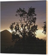 Sunset Over Benog Hill Wood Print