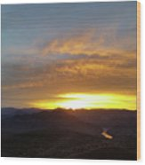 Sunset Over Black Canyon And River #1 Wood Print
