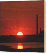 Sunset Over Bridgeport Wood Print