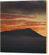 Sunset Over Cataloochee Valley Wood Print