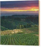 Sunset Over Central Oregon 4 Wood Print