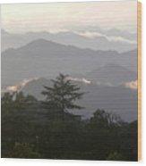 Sunset Over Chakrata Hills 2 Wood Print