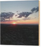 Sunset Over Cleveland Wood Print