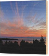 Sunset Over Cypress Wood Print by Tom Buchanan