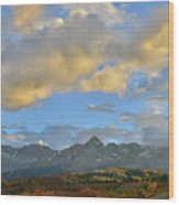Sunset Over Dallas Divide Wood Print
