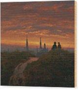 Sunset Over Dresden Wood Print