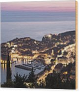 Sunset Over Dubrovnik In Croatia Wood Print