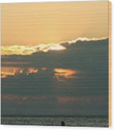 Sunset Over Egg Harbor Wi Wood Print