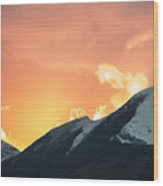 Sunset Over Grisedale Pike And The Coledale Horsehoe, Lake Distr Wood Print