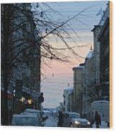 Sunset Over Helsinki Wood Print