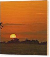 Sunset Over Horicon Marsh Wood Print