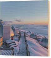 sunset over Igloos - Greenland Wood Print